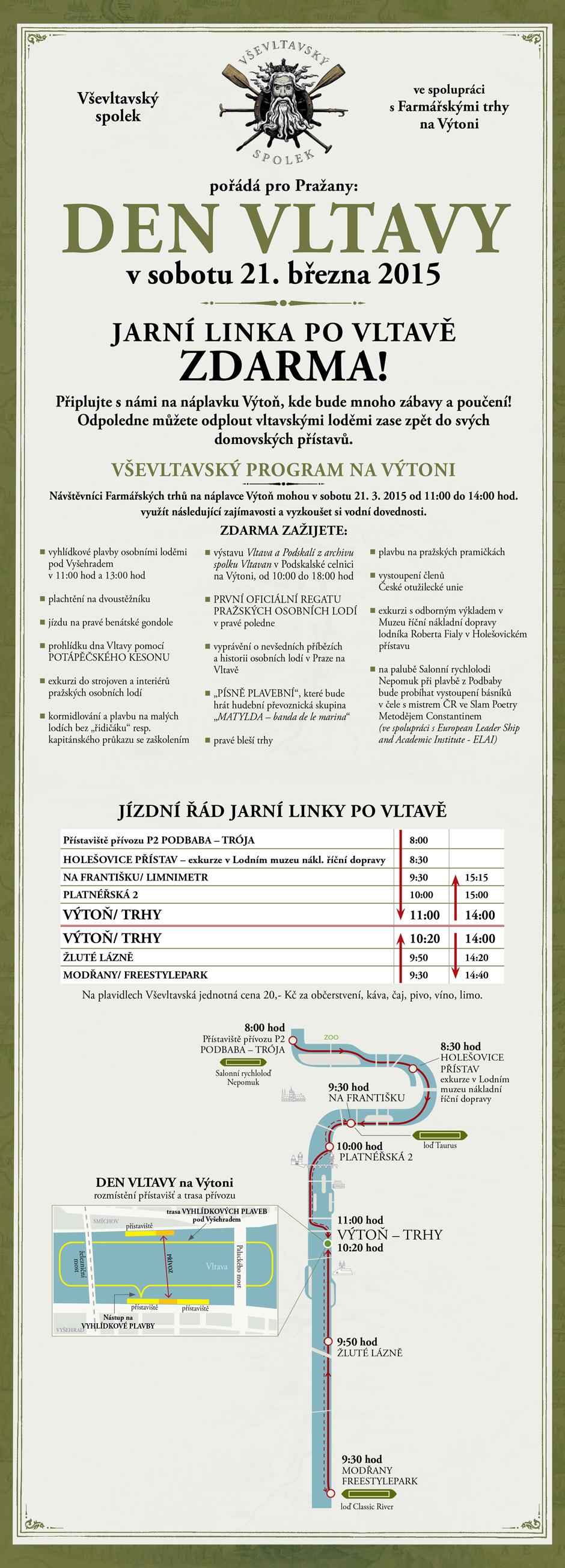 Den Vltavy Program a mapa